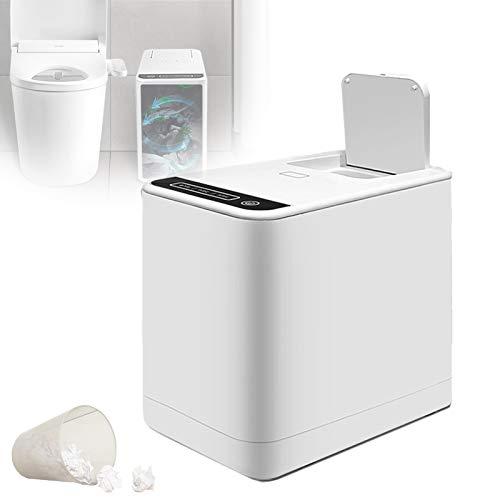 EnweLampi Inteligente Cubo De Basura Hogar, Impermeable Botón Táctil Papel Higiénico Amoladora Procesador, Silencioso Portátil Baño Servilleta Sanitaria Trituradora, para Anciano/Niño/Adulto