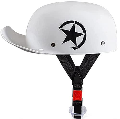 Medio Casco Adulto Cara Abierta Casco De Moto Half-Helmet Crucero Scooter Eléctrico...