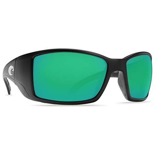 Costa Blackfin Plastic Frame Green Mirror Glass Lens Men's Sunglasses BL11OGMGLP