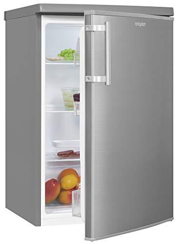 Exquisit Kühlschrank KS16-V-H-040E inoxlook | Standgerät | 130 l Volumen | Inoxlook