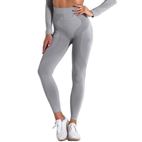 QTJY Pantalones de Yoga Ajustados de Cintura Alta de Color Rojo Rosa para Mujer, Pantalones de Jogging geométricos, Mallas de Entrenamiento de transpiración para Celulitis, BM