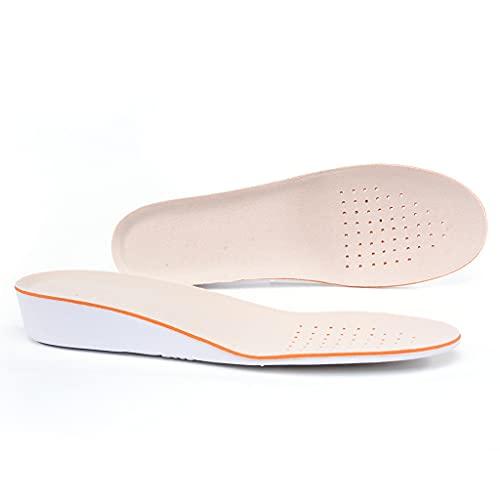 GELTDN Hombres Mujeres Aumentan la altura Alta Plantillas Completas Memoria Espuma Shoe Cojines (Color : EU size(41-46), Size : 1.5cm)