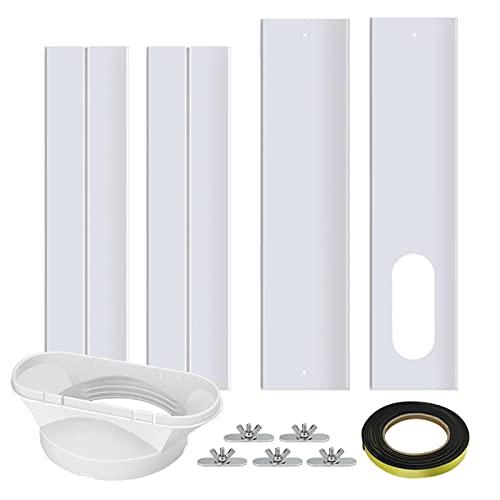 Nrkin Guarnizione per finestra, regolabile e mobile, per climatizzatori mobili, per finestre, per climatizzatori mobili, climatizzatore, con interfaccia piatta di 13 cm e adesivo antivento
