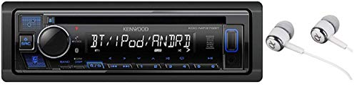 Kenwood KDC-MP375BT Car Single DIN In-Dash CD MP3 Stereo Receiver USB AUX Inputs Buit-in Bluetooth Dual Phone Connection iPod iPhone Control AM FM Radio Player w/FREE Alphasonik Earbuds