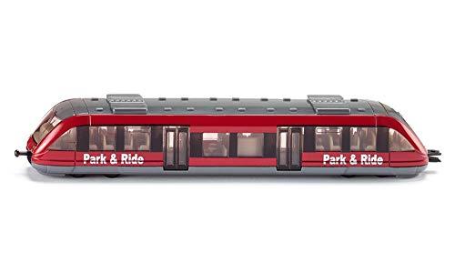 Siku 1646, Nahverkehrszug, Metall/Kunststoff, 1:87, rot, Kompatibel mit anderen Siku Spielzeugen