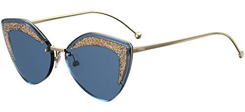Occhiali da sole Fendi GLASS FF 0355/S GOLD/BLUE donna