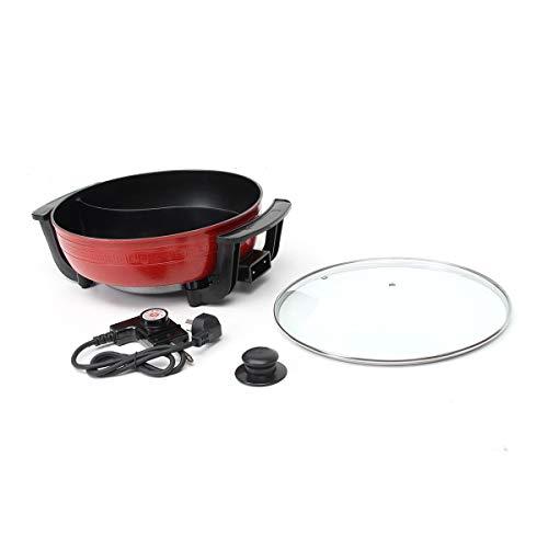 YXIAOn 1300W 220V eléctrico Caliente crisol de la Sopa Ollas de Acero Inoxidable sin Humo Antiadherente Inicio Cocina Artículos for cocinar