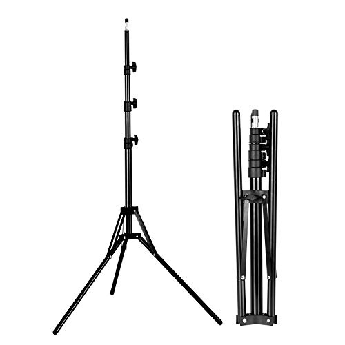 Emart 6' Reverse Folding Light Stand for Photography, Compact Portable Tripod Lighting Stand Lightweight Suitable for Camera Flash, Ringlight, Photo Reflector, Umbrella, Studio Video Lightstand