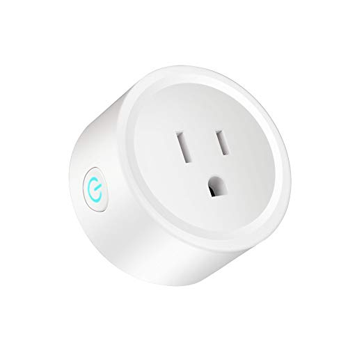 Smart Plug Compatible with Alexa Google Assistant for Voice Control, Mini Smart Outlet Wifi plug with Timer Function, No Hub Required, White, FCC ETL Certified (1 pc)