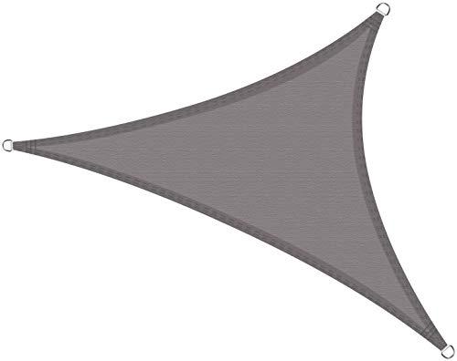 Cool Area Toldo Vela de Sombra Triángulo Rectángulo 3 x 3 x 4.2 Metros, Impermeable Protección UV para Patio Exteriores Jardín, Color Gris