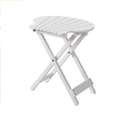 Klaptafel verstelbare klap de tafel eenvoudig balkon buiten massief hout draagbaar bureau luie kleine tafel salontafel bloemenrekken (4 kleuren optioneel) (43 * 40cm) kan worden gedraaid (kleur: A) C