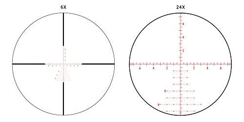 Athlon Optics , Argos BTR, Riflescope, 6-24 x 50 First Focal Plane (FFP) 30 mm Tube, Illuminated APMR MIL Reticle,