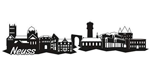 Samunshi® Neuss Skyline Aufkleber Sticker Autoaufkleber City Gedruckt in 7 Größen (15x3,5cm schwarz)