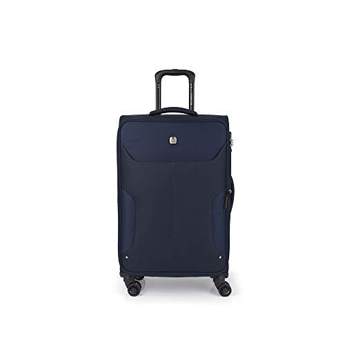 Gabol - Nordic | Maletas de Viaje Medianas de 42 x 70 x 28 cm con Capacidad para 65 L de Color Azul