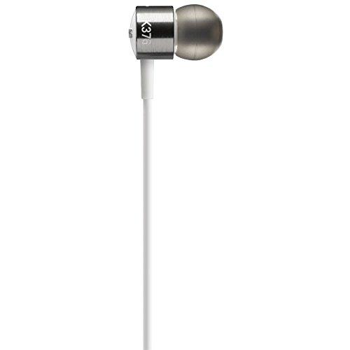 AKG K 376 Premium Aluminium In-Ear Kopfhörer mit Knopf Steuerung und Mikrofon für Android Smartphone weiß