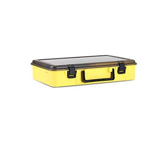1yess Angelbeutel Angeln Toolbox Luya Köder Box Gefälschte Köder Aufbewahrungsbox Doppelschicht Multifunktionale Fischbox Spezielle Zubehör Tasche Angelausrüstung Angelrutenbeutel