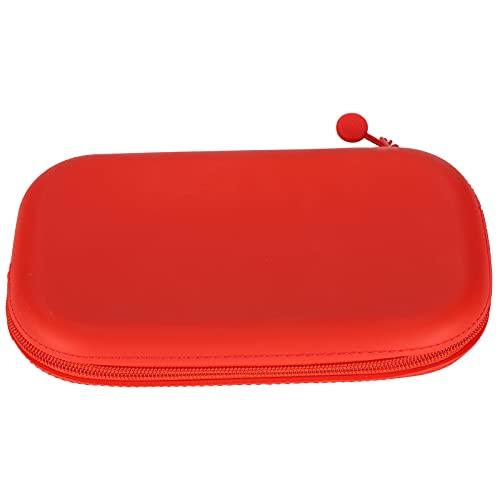 Estuche para lápices de silicona Estuche para lápices de silicona Estuche para lápices Almacenamiento con cremallera Material escolar estacionario para estudiantes L(rojo)