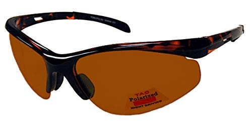 FLY-DEF High-Definition Polarized Fishing sunglasses Gold Lens Semi-Rimless Sports Wrap