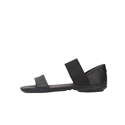 Camper Women's Right Nina Sandal,Black,40 EU/10 M US