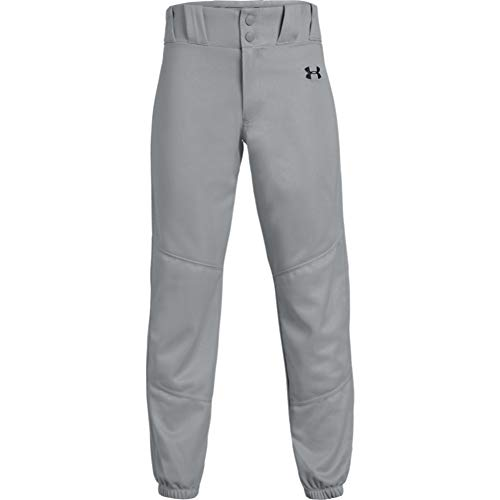 Under Armour Boys' Utility Relaxed Pants , Baseball Gray (080)/Black , Youth Small