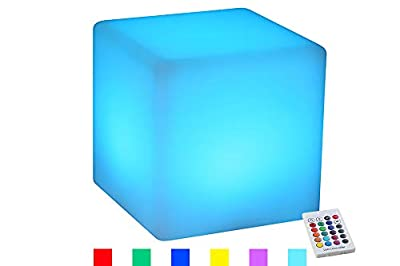 YESIE 4-Inch Cordless LED Cube Baby Night Light, Rechargeable LED Cube Light for Kid Gift, 16 RGB Colors Bedside Lamp