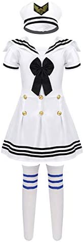 ranrann Kids Girls Sailor Uniform Girl Navy Cosplay Carnival Party Army Costume School Stage product image