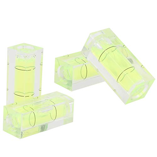 4Pcs Mini Bubble Spirit Level,High Precision Square Picture Hanging Level Mark Measuring Tools,Two Black Line Level Detector