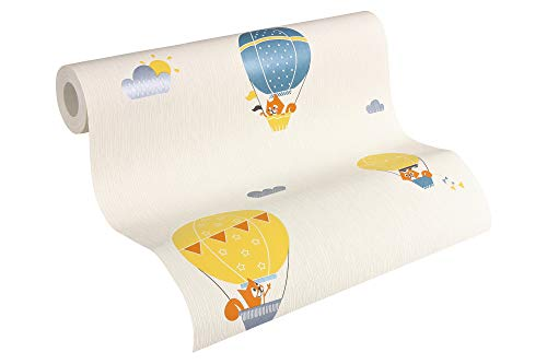 Esprit Kids Vliestapete Flying Balloon Tapete Kindertapete 10,05 m x 0,53 m blau creme orange Made in Germany 302952 30295-2