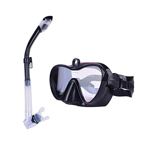 Asotagi Juego de gafas de buceo antideslizantes con soporte, botones ajustables libremente, traje de buceo suministros para hombres y mujeres