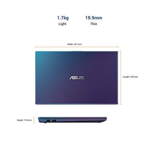 ASUS VivoBook 15 Intel Core i3-10110U 10th Gen 15.6-inch FHD Thin and Light Laptop (4GB RAM/256GB NVMe SSD/Windows 10/Integrated Graphics/Backlit KB/FP Reader/Peacock Blue/1.70 kg), X512FA-EJ363T
