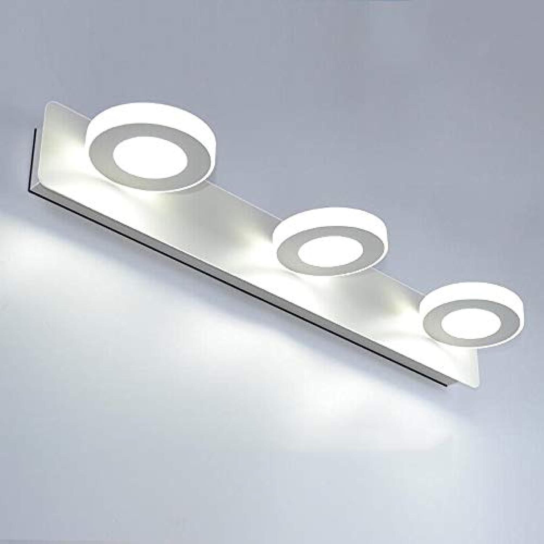 XIGE Badezimmerspiegel Scheinwerfer, Drehbare Schmiedeeisen Wandleuchte 20 Watt Wei Make-Up Lampe Bad Anti-Fog Rasierspiegel Lampe (Farbe   Weies Licht, gre   E)