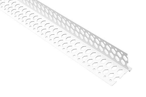 2 Meter | Winkelprofil | Trockenbau | PVC | stoßfest | resistent | Lemal | 37x37mm | weiß | PT8
