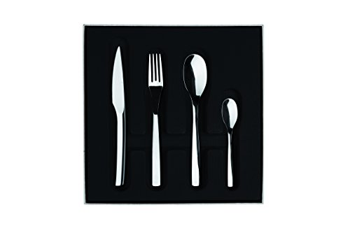Guy Degrenne Monobloc 206277 - Cofanetto con Set Completo di Posate da tavola, con coltelli a Lama seghettata, 24 Pezzi