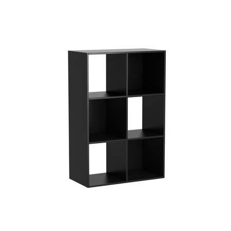 Mainstay 6 Cube Organizer, Multiple Colors, Black Stipple (Black Stipple, 1)
