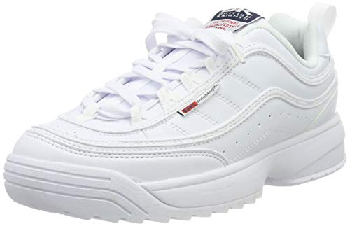 British Knights Damen IVY Sneaker, Weiß (White/Navy/Red 01), 39 EU