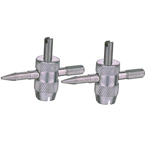 2 piezas de 4 maneras del coche camión de la válvula del neumático del destornillador de vástago de válvula Core Remover vástago de la herramienta de instalación de neumáticos Core Rapair Herramientas