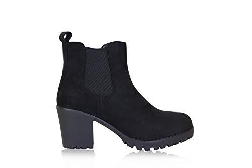Frentree dames klassieke laarzen Chelsea Boots- Ankle Boots met blokhak