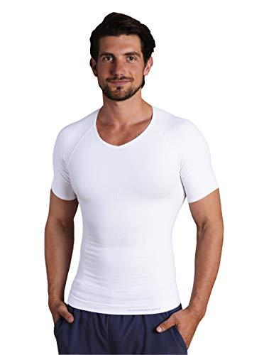 V-Neck Compression Performance Shirt (XL, Weiß)