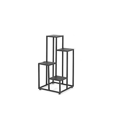 GF Fer Art Stand De Fleurs De Sol De Grande Capacité Pot Rack Balcon Intérieur Et Extérieur Salon Multifonction Vert Home (Size : 40x40x80cm)