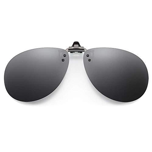 NIERBO Gafas de Sol Polarizadas con Clip, Lentes de Sol con clip en el Monturas de Gafas para Conducir y Otras Actividades al Aire Libre