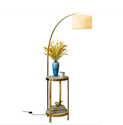 N/Z Home Equipment Bedroom Led Floor Lamp with End Table Industrial ARC Floor Lamp with Lamp Shade Tall Standing Modern Floor Lamp Reading for Living Room Office Study Room Hotel