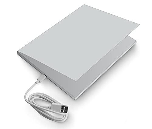 SoundGreets Audio Grußkarte inkl. USB Kabel - Sound Datei (Mp3) bis 8 Min. Länge vom PC per USB aufspielen, Aufladbarer Akku, Top Lautsprecher, mit Musik (Silber)