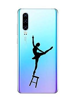Oihxse Clair Case pour Huawei Mate 8 Coque Ultra Mince Transparent Souple TPU Gel Silicone Protecteur Housse Mignon Motif Dessin Anti-Choc Étui Bumper Cover (A11)
