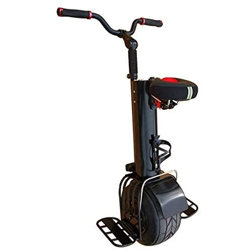 J&LILI Biciclette Elettriche A Rulli 500W Motorino Elettrico Monociclo per Adulti Autoallineamento Autoallineamento Smart Caricing Travel 10 Pollici Moto Incubato con Sedile E Manubrio