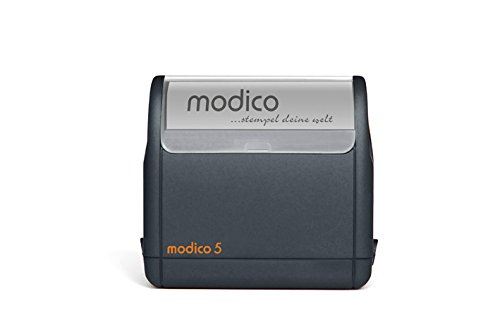 modico 5   Stempel 63mm x 24mm   schwarz   inkl. Stempelplatte