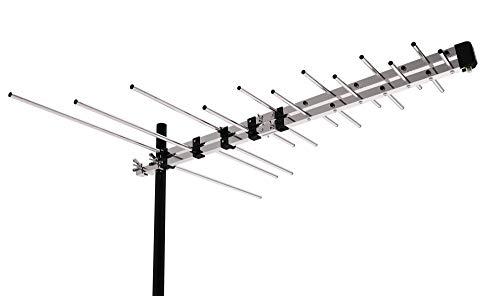 CeKay Outdoor Antenna Yagi Satellite HD Antenna - Attic or Roof Mount TV Antenna, Long Range Digital OTA Antenna for Clear Reception, 4K 1080P, All Metal