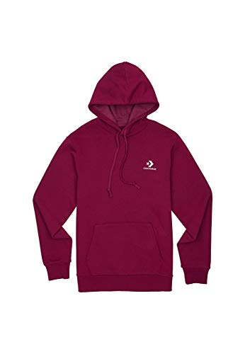 Converse Hoodie Herren Star Chevron Embroidered 10008814 Lila Wine 507, Größe:M