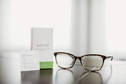 318A7alHpaL - Loocid Anti Fog Wipes for Glasses (30 Count) - Lens Cleaner Wipes for Eyeglasses, Goggles, Face Shields, Cameras, Screens, Phones - Pre-Moistened and Individually Wrapped Eye Glass Cleaning Wipes Kit