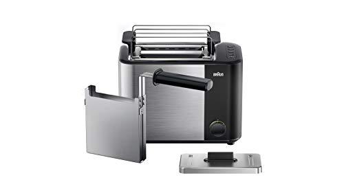 Braun Household HT5015.BK ID Breakfast Collection Toaster mit 13 Toaststufen, Auftaufunktion, automatische Abschaltung, 1000 W, schwarz/edelstahl, Kunststoff