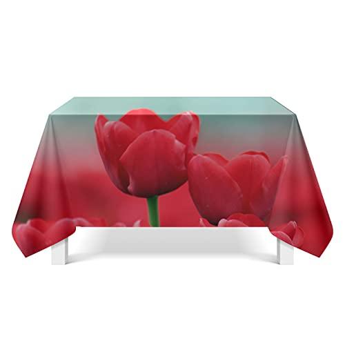 CYYyang Tela de Tabla Antideslizante del algodón del Poliester Cubierta Simple de la Tabla de la Manera Arte de Rama de Flor Fresca